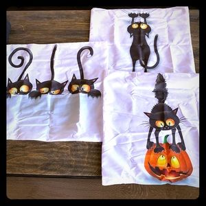 Set of 3 Halloween 🎃 Decorative Pillow Covers